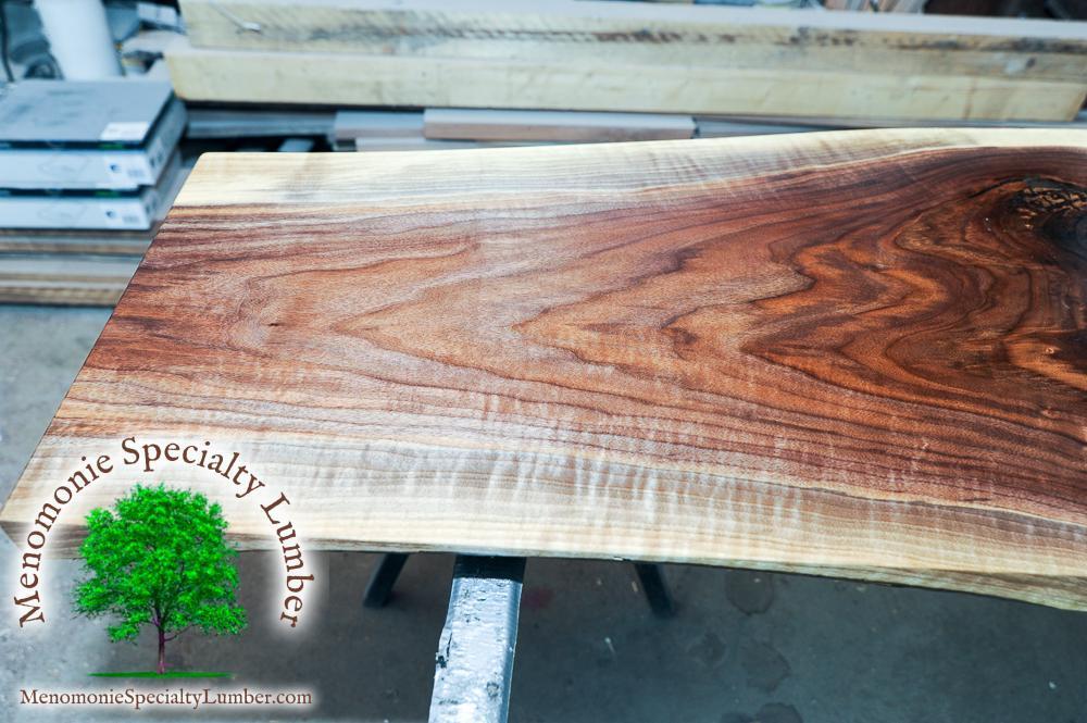 Live Edge Black Walnut Hallway Table - Lumber & Slab